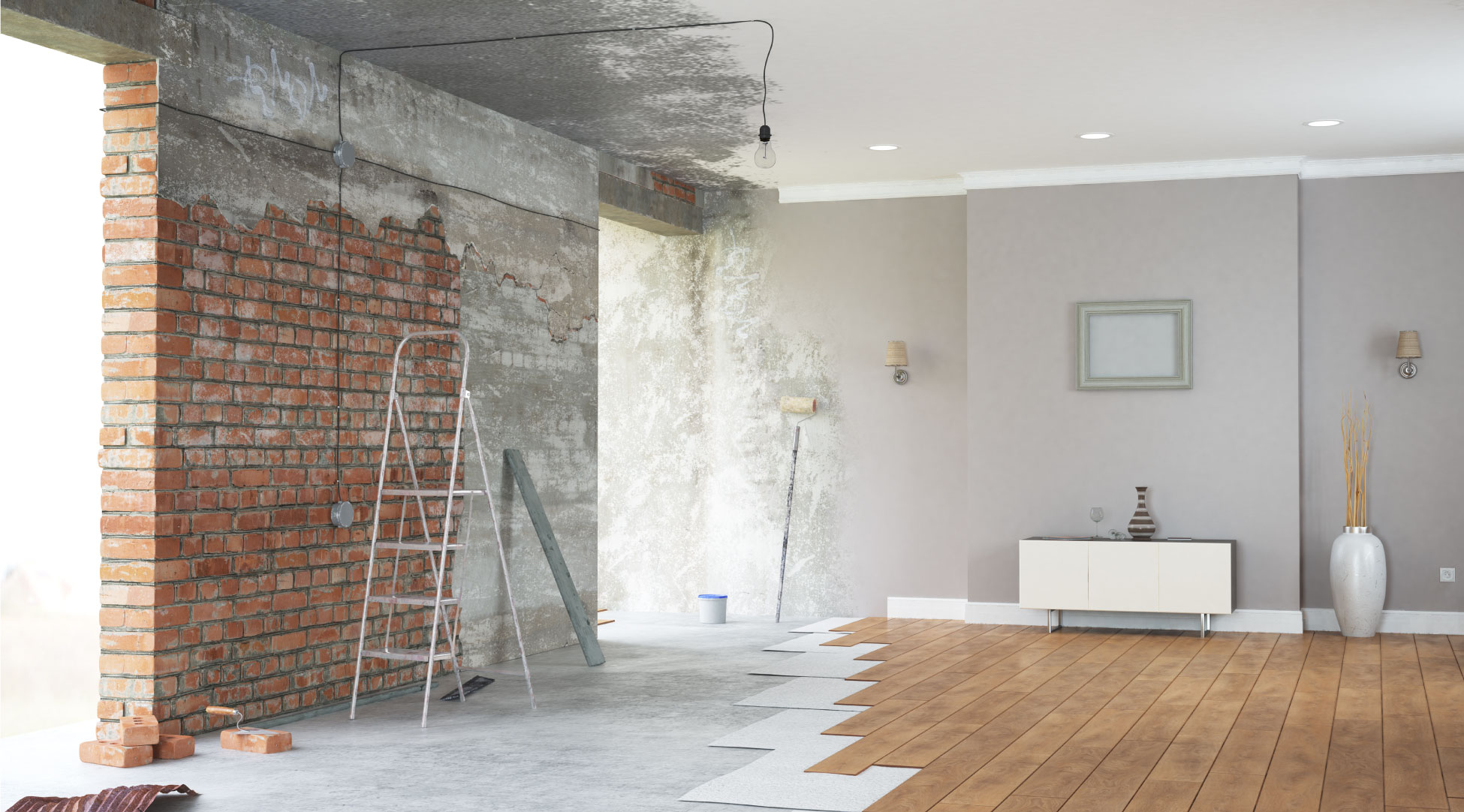 travaux maison isolation chantier